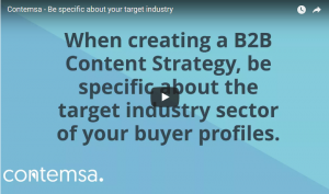 Contemsa - Be specific about your target industry