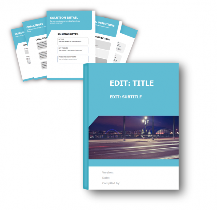 Sales Playbook Template Example - Blue