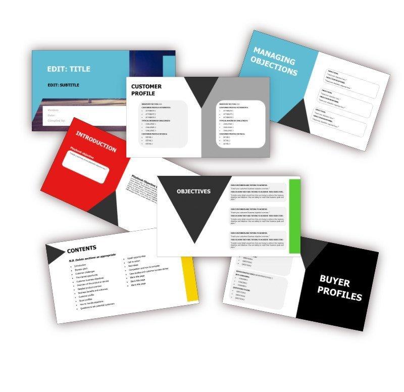 Sales Playbook Template PowerPoint - Inside