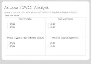 Account Planning SWOT Analysis