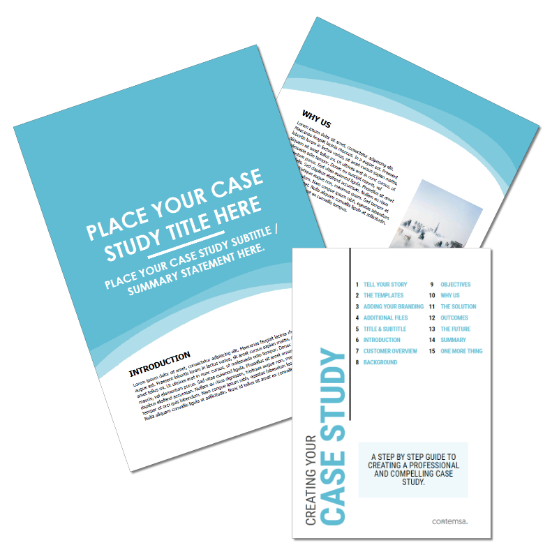 B2B Case Study Template and Guide Covers