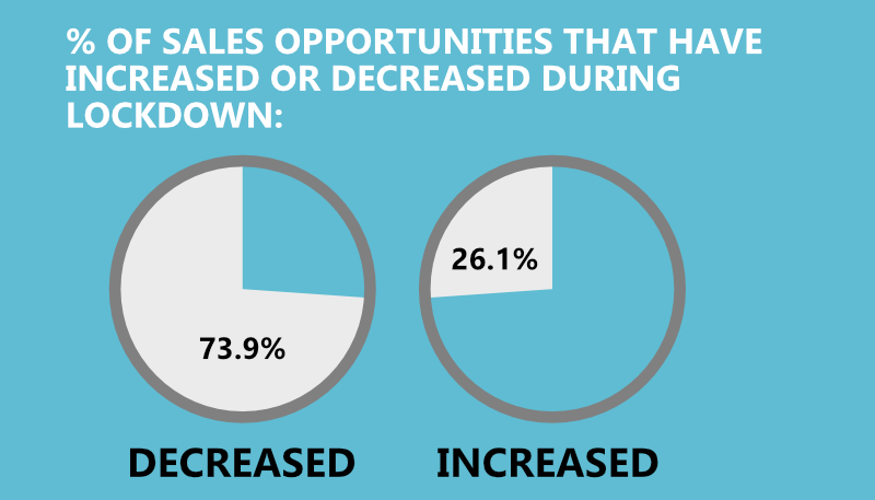 Infographic: B2B Sales Statistics Coronavirus - Decreased sales
