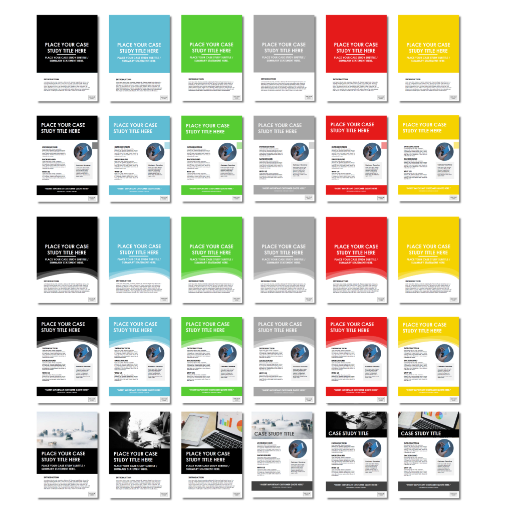 Case Study Template Covers