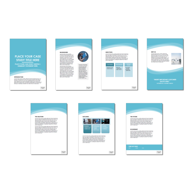 Case Study Template Long Blue Color Option