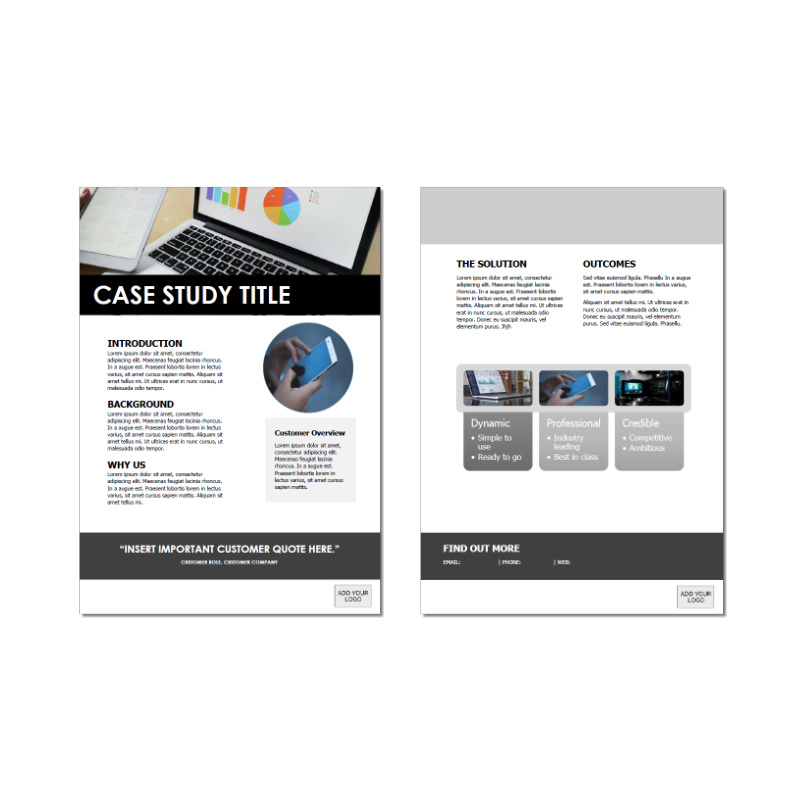 Case Study Template Photo Short Version