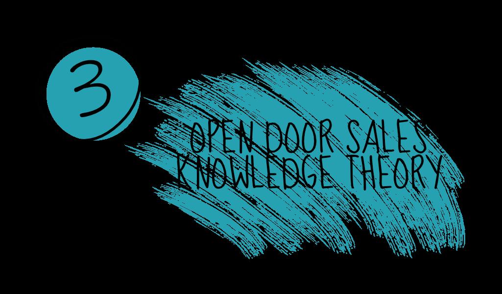Open Door Sales Knowledge Theory
