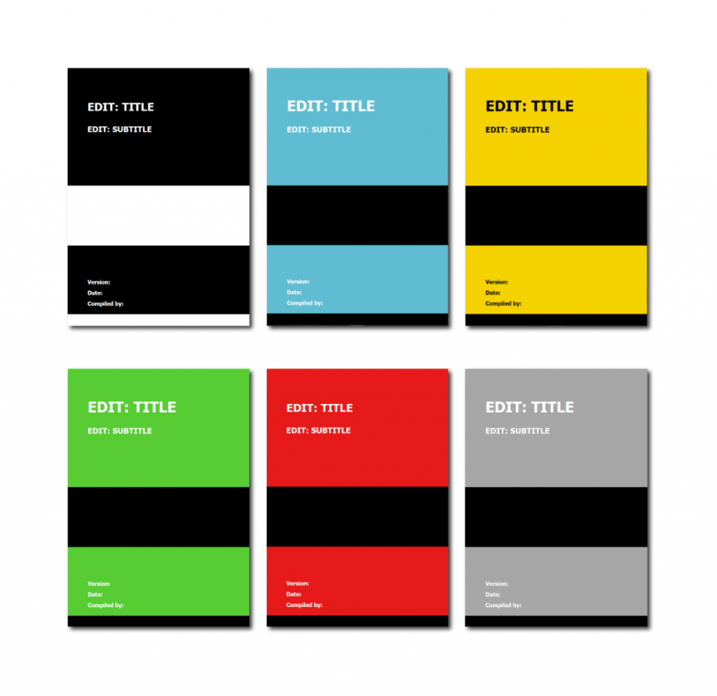 Sales Playbook Template - Color options