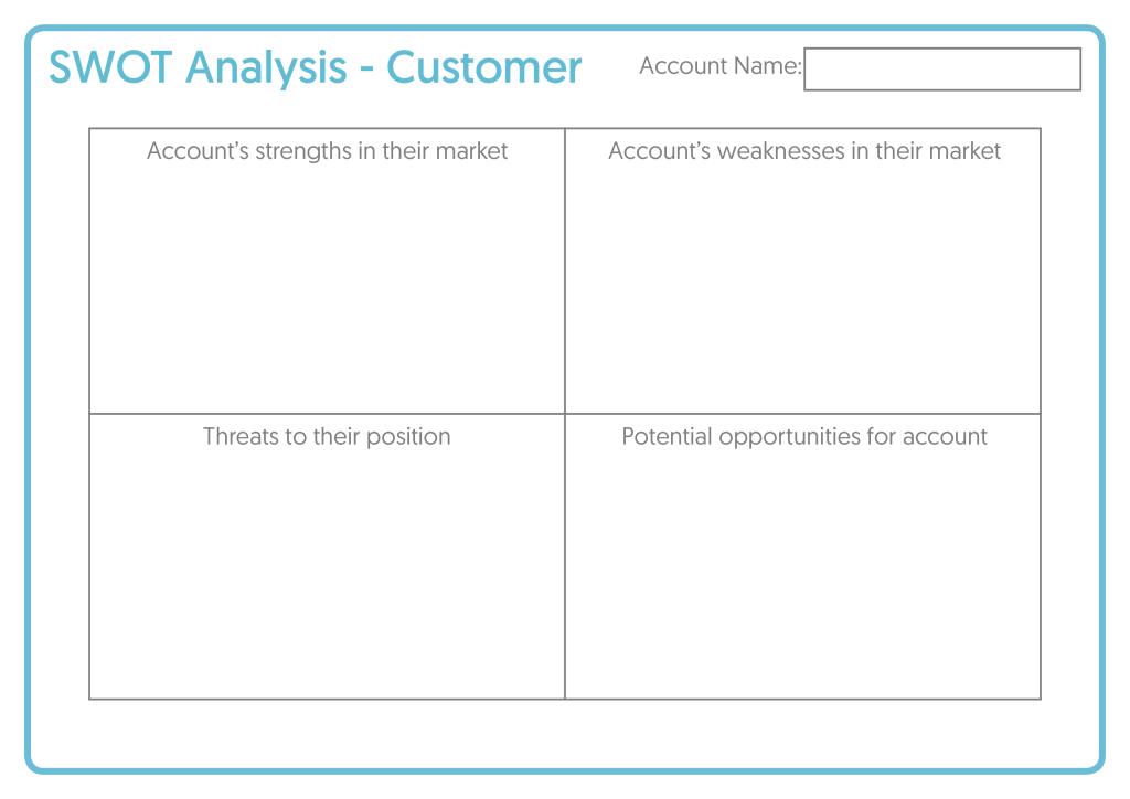 Customer Planning Template