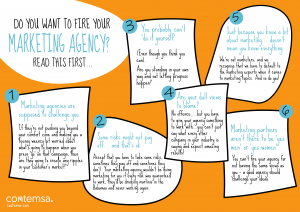 Want to fire your marketing agency - infographic